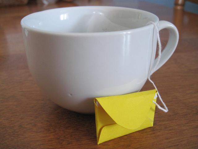 Regalo tus cartas de té bolsa de amor.