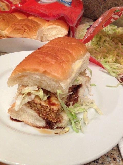 Cómo hacer pollo teriyaki hamburguesa Sub Sliders Receta