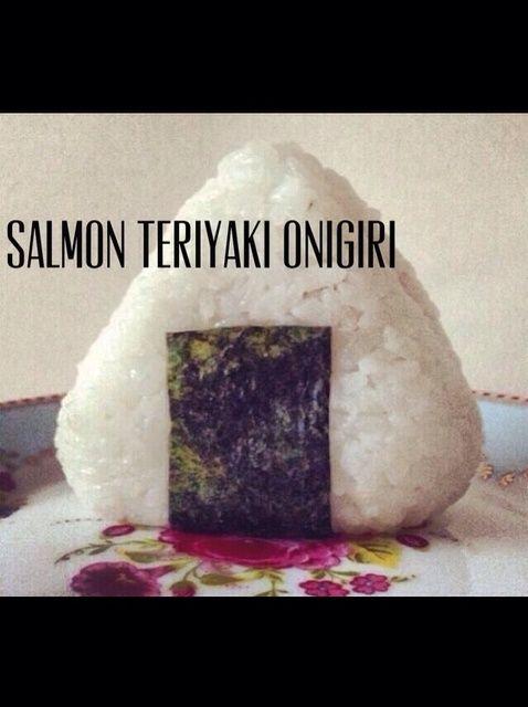 Cómo hacer Teriyaki Salmon Onigiri Receta