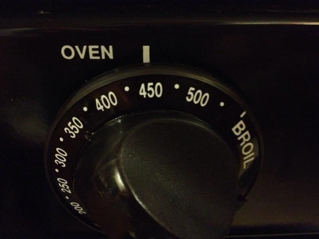 Precaliente el horno 450F