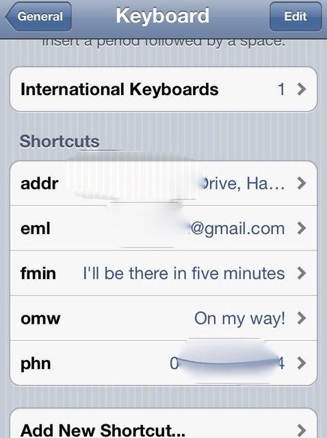 Cómo hacer atajos de texto en un iDevice