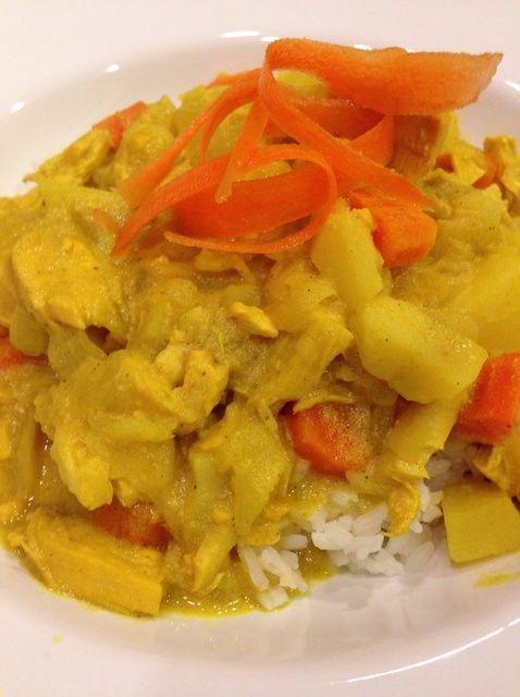 Cómo hacer Thai Coconut pollo al curry Receta De Rasguño