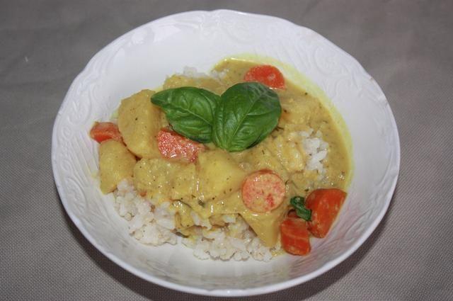 Sirva sobre arroz