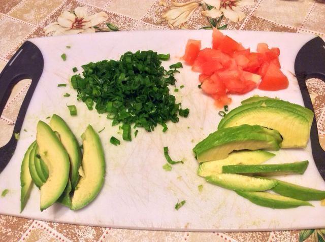 A continuación, cortar los ingredientes