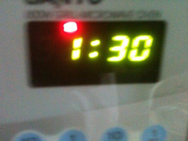Microondas 1:30 en un microondas 800w