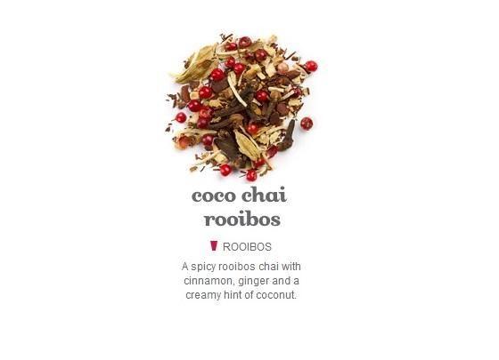 Vierta 4 tazas (1 L) de agua hirviendo sobre el té de su elección y dejar en infusión durante 30 minutos. Solía DAVIDsTEA's amazing Coco Chai Rooibos.