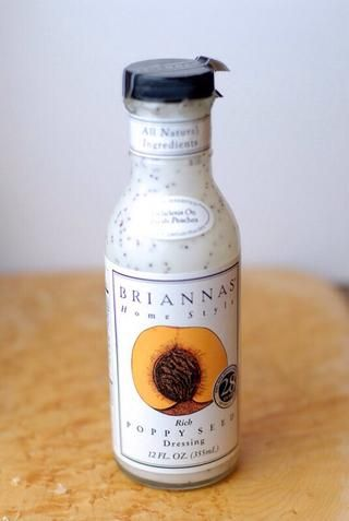Brianna's Poppyseed Dressing! Just enough to wet the mixture.
