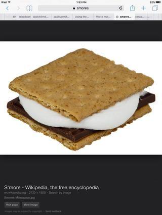 Póngalos juntos en este orden. Cracker de Gram, malvavisco, choclate, gramo cracker.now comáis SMOR perfecto.