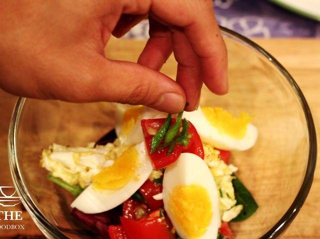 Cómo hacer la ensalada Receta último huevo