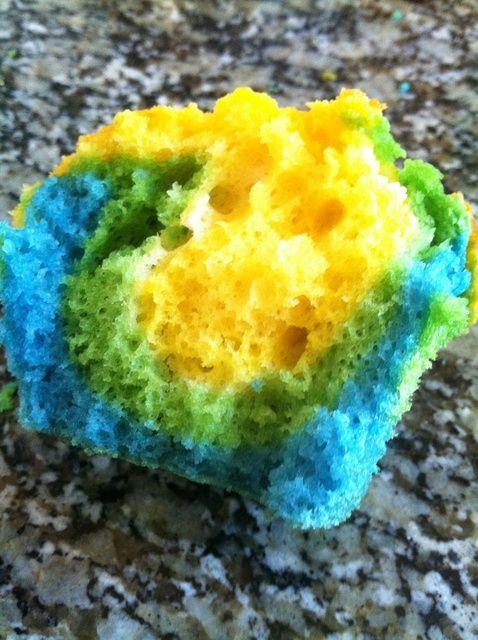 Cómo hacer Tie Dye Cupcakes Receta
