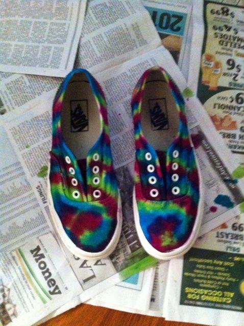 Cómo hacer Tie Dye Sneakers