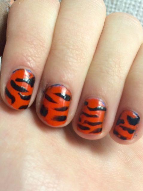 Cómo hacer ?????? raya del tigre Nails ??????