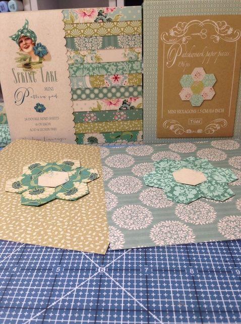 Cómo hacer Tilda Patchwork Hexagon Flores