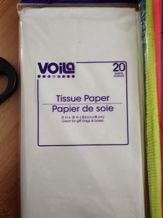Obtener el papel de seda (20in por 26in)
