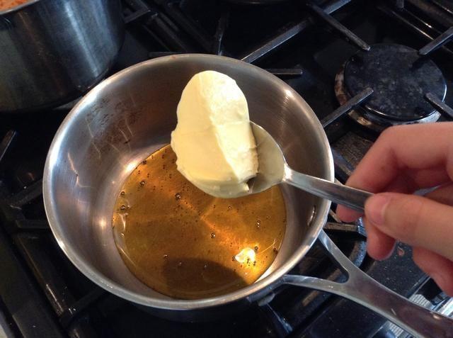 Agregue el de mantequilla mitad de la cantidad de jarabe de oro que usó