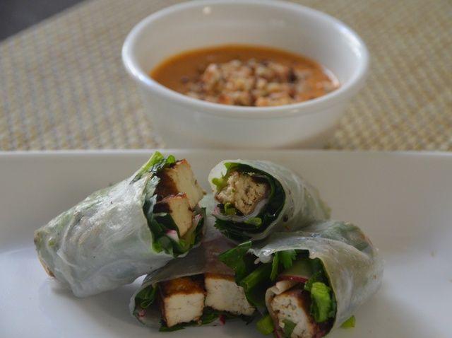 Cómo hacer Tofu Espinacas Rolls Receta