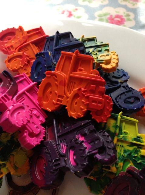 Cómo hacer Tractor Crayones