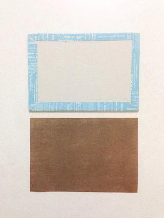 Utilizando el papel marrón de la 6