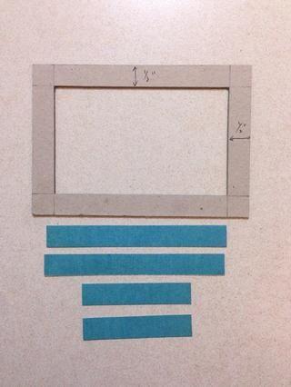 El uso de una hoja de papel azul de la 6