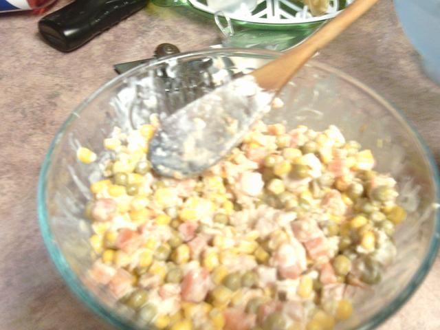 Si se ve seca agregar más mayonesa y disfrutar