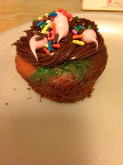Cómo hacer teñido anudado Cupcakes Receta