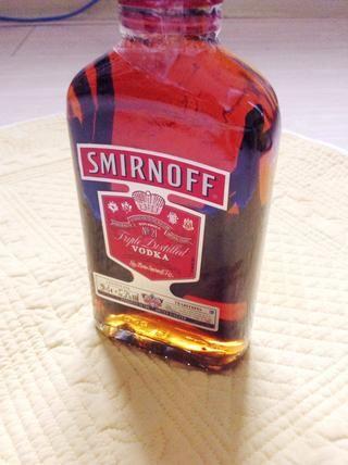 La parte buena de esto es que se puede rellenar con vodka para hacer esencia.