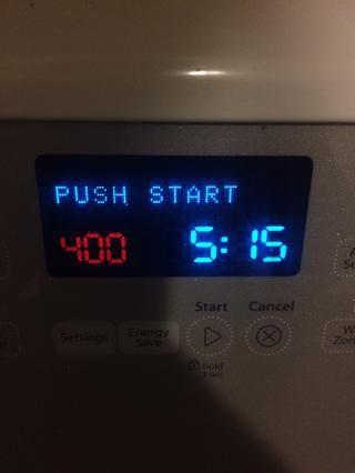 Precaliente el horno a 400F sobre