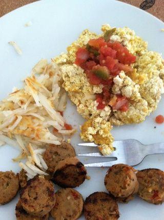 Ta-da! Se puede servir con salsa o salsa picante y un lado del campo sin carne asada