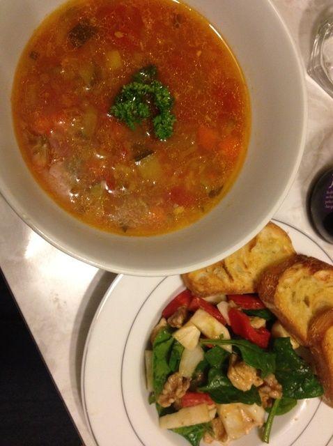 Cómo hacer de verduras y sopa de lentejas Receta