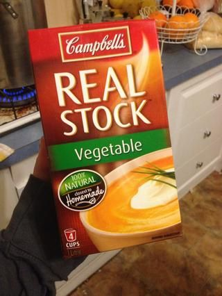Este es el caldo de verduras que me gusta.