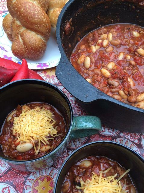 Cómo hacer Vegetariana Campamento Chili