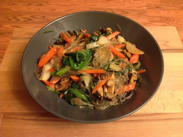 Cómo hacer Vegetariana japchae Receta
