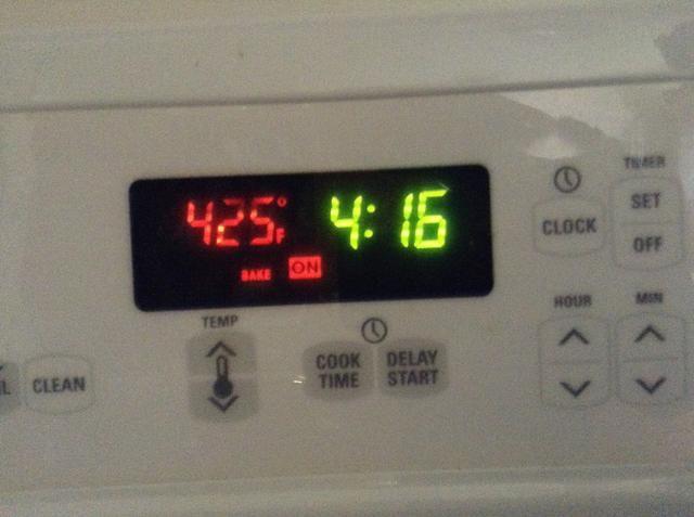 Caliente el horno a 425 Pre