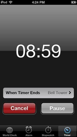 Establecer un temporizador durante 9 minutos