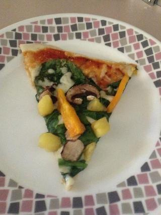 Disfrute de pizza deliciosa