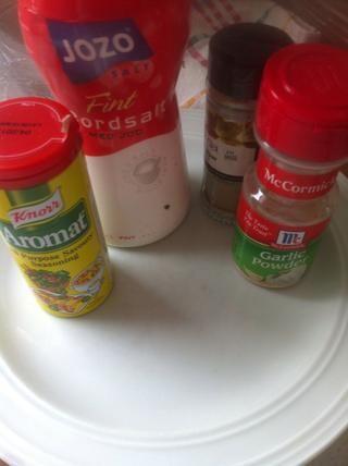 ingredientes para marinar los fideos.