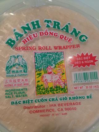 Humedezca su papel de arroz con agua tibia
