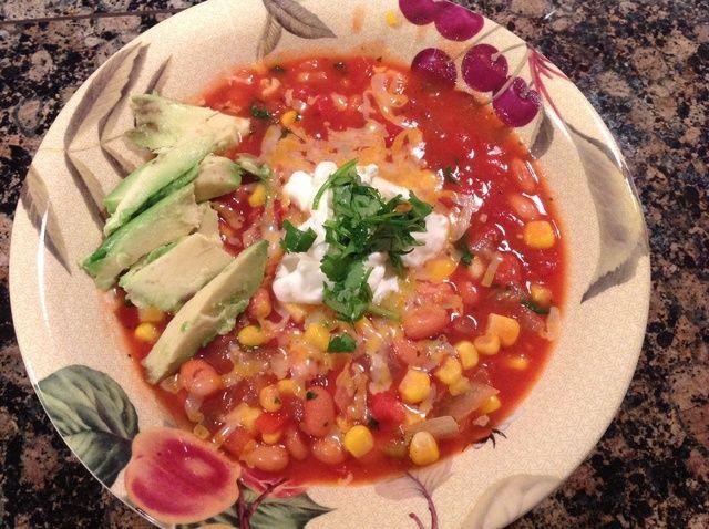 Cómo hacer Vegetariana Taco Sopa Receta