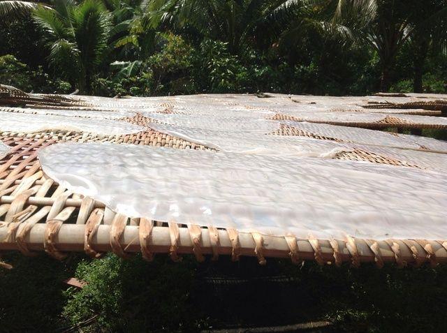 Luego se coloca en el sol para secar durante aproximadamente 8 horas (dependiendo del clima)