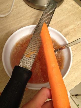 También he añadido zanahoria rallada para el dulzor añadido.