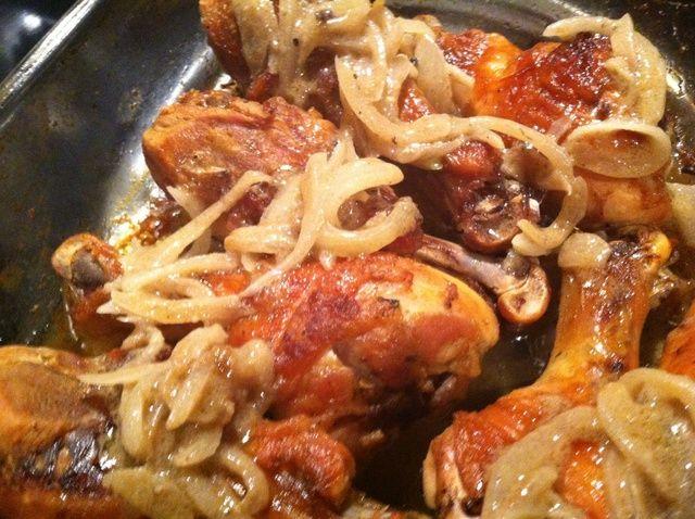 Cómo hacer vinagre y el comino Hornee pollo Receta