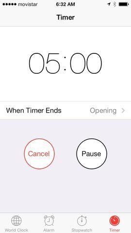 Espere 5 minutos más