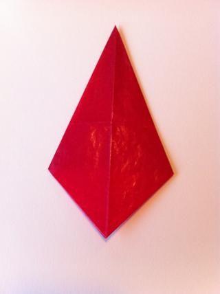 Papel tirón encima, este es el primer punto de su estrella de papel!