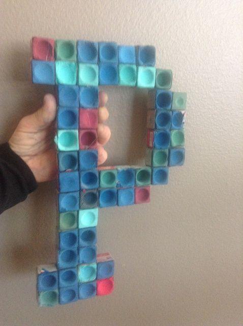Cómo hacer arte de la pared Con Reciclado Cue Tiza