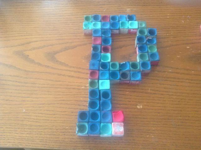 Coloque los cubos de tiza de referencia en el patrón que usted desea.