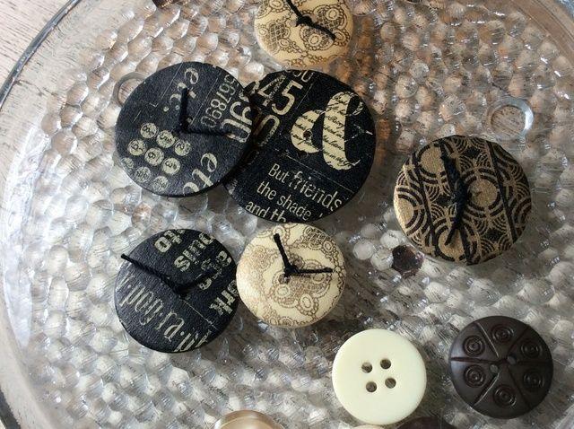 Cómo hacer Botones Washi cubiertos