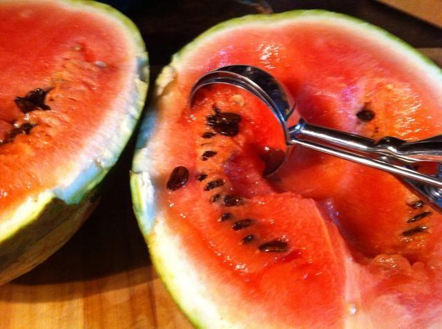 Saque fruta.