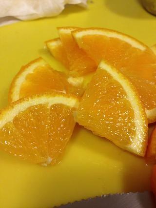 Lo mismo con la naranja, añadir en