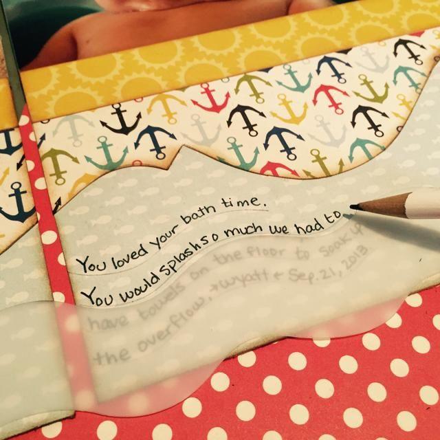 Me gustó el aspecto de las líneas que muestran a lápiz en lugar de la pluma, así que sólo rápidamente dibujó las líneas de lápiz de nuevo bajo mis palabras. O usted no't have to have lines at all.