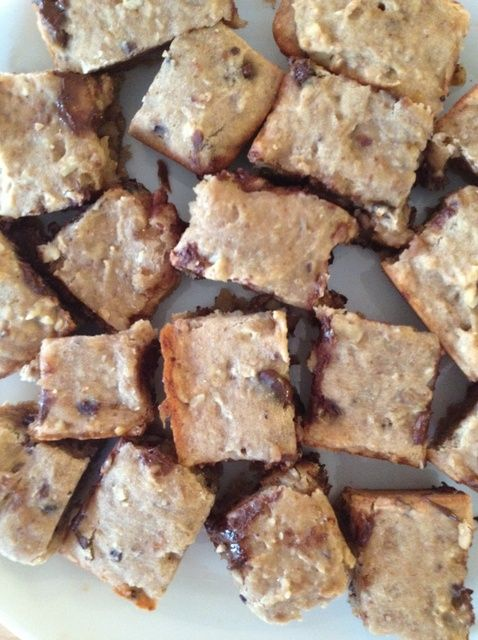 Cómo hacer Frijoles Blancos Blondies Chocolate Chip